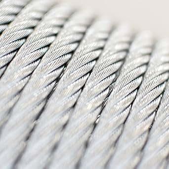 [DQ-PP] 30 m Drahtseil 5mm TOP ARTIKEL 6x7 Stahlseil verzinkt Drahtseil Seil Stahl Draht Forstseil Windenseil