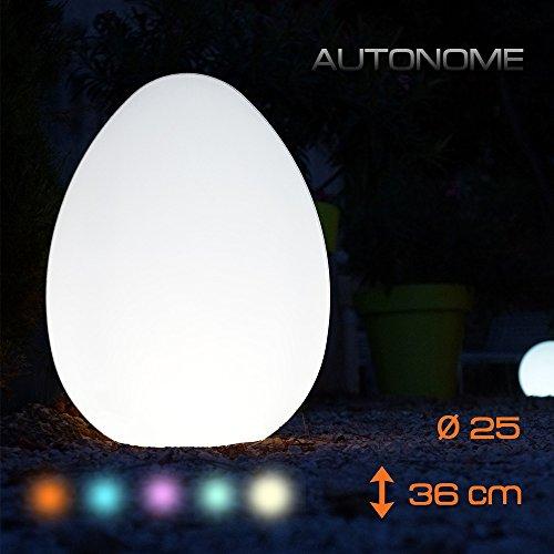 Lumisky BAT-OE4 Œuf lumineux multicolore Éclairage pour Chemins LED avec Télécommande 5 W 7,5 V H36