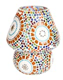 #7: Multicolour Mosaic Style Dome shaped Glass Table Lamp For Gift & Home Decor