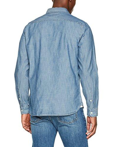 Levi's Herren Freizeithemd Sunset 1 Pocket Shirt Blau (Chambray Indigo 0345)