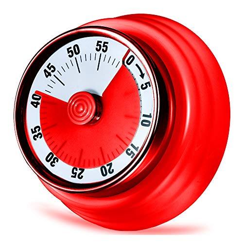 LAOPAO Küchentimer, 60 Minuten Mechanisch Magnetisch Kein Akku erforderlich Countdown Timer Küchenuhr mit 72DB Alarmton