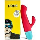 CUPE Twisted Rider Rabbit Vibrator - Sexspielzeug mit 10 Vibrationsprogrammen, Länge 19 cm, Durchmesser ca. 3,6 cm