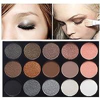 Palette Ombretti, Ruwhere 15 Colori Eyeshadow Palette Neutri Caldi Corredo di Trucco Tavolozza per Trucco Occhi…