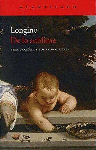 De Lo Sublime (Cuadernos del Acantilado) por Longino