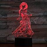 Lampe Illusion, Acrylique 3D Lumière De L'Atmosphère Disney Princesse Jasmine...