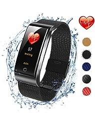 ISWIM Pulsera Actividad, Pulsera Inteligente con Pulsómetro Pulsera Deportiva y Monitor de Ritmo Cardíaco Monitor