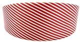 Haar-Reif 2679 Haarreifen Haar-Klammer weiss mit roten Streifen Muster O73