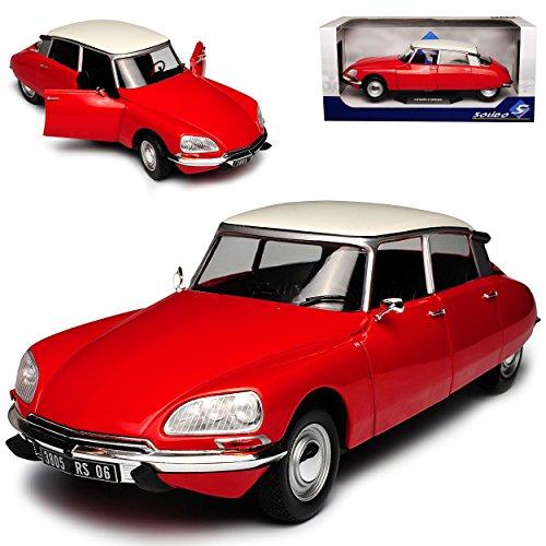 Citroen DS Special Limousine Rot mit Weissem Dach 1/18 Solido Modell - Citroen Modell