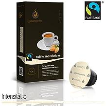 Gourmesso - cápsulas de café para cafetera Nespresso ® - 10 cápsulas de café compatibles (0,26 EUR/Cápsula) Soffio Mandorla (Intensidad 5)