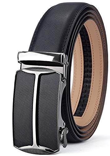 TERSE Men's Belt Genuine Leather Buckle Automatic Ratchet 35 mm Width Length 110CM