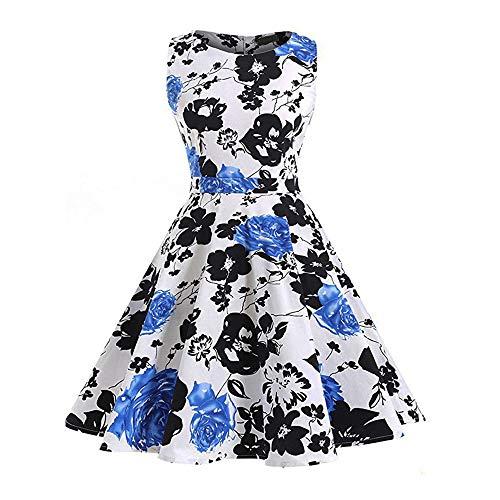 SXZG 2018 Neue Temperament Retro Rock Hepburn Wind Kleid drucken Slim großes Kleid