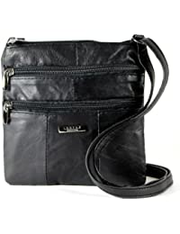 Lorenz Ladies Small Genuine Soft Leather Cross Body   Shoulder Bag (1)    1941 368a259f77df2