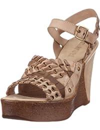 Maruti Rimini natural taupe Leather 66.30170.2020 - Sandalias de cuero para mujer