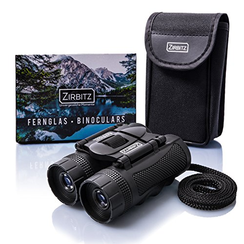 ZIRBITZ HD Fernglas - Kleines und kompaktes Fernglas im Taschenformat für Wandern, Vogelbeobachtung und Reise - Ideal für Erwachsene und Kinder (8x25)