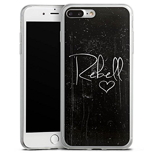 Apple iPhone 8 Slim Case Silikon Hülle Schutzhülle Rebell Sprüche Spruch Silikon Slim Case transparent