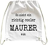 Mister Merchandise Turnbeutel natur Rucksack So sieht ein richtig cooler eine richtig coole ... aus. Tasche