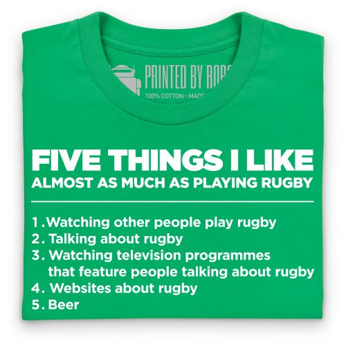Five Things I Like - Rugby T-Shirt, Herren Keltisch-Grn