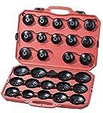 SLPRO® 31 tlg. Ölfilterschlüssel Kfz SET zum lösen und festziehen von Ölfilterkartuschen inkl. Koffer