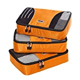 eBags Medium Packing Cubes - 3pc Set (Tangerine)