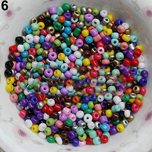 Lot de 1200 perles de 2 mm - Pour la création de bijoux, les cheveux, les bricolages, les macramés, ABS, mixte, Taille M