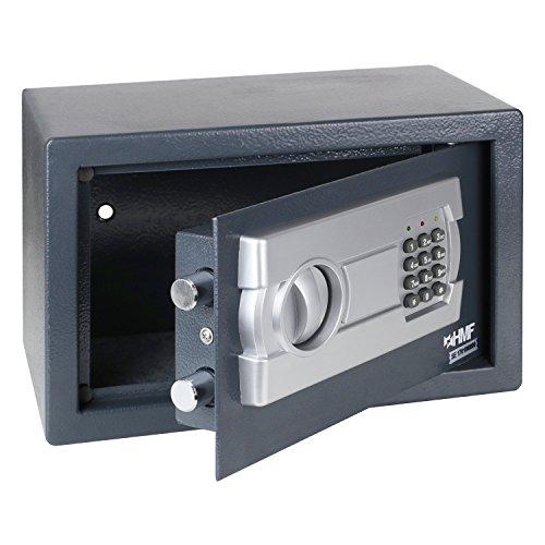 La caja fuerte de HMF muebles convence con un cuerpo de acero sólido y una cerradura de doble cerrojo. Función:  Caja y puerta de acero solido.  Cerrojo doble.  Hoyos para colocar en la pared o el suelo.  Bisagra cubierta para un diseno elegante. Cer...