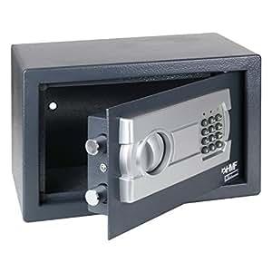 hmf coffre fort avec serrure lectronique 310 x 200 x 200 mm fournitures de bureau. Black Bedroom Furniture Sets. Home Design Ideas
