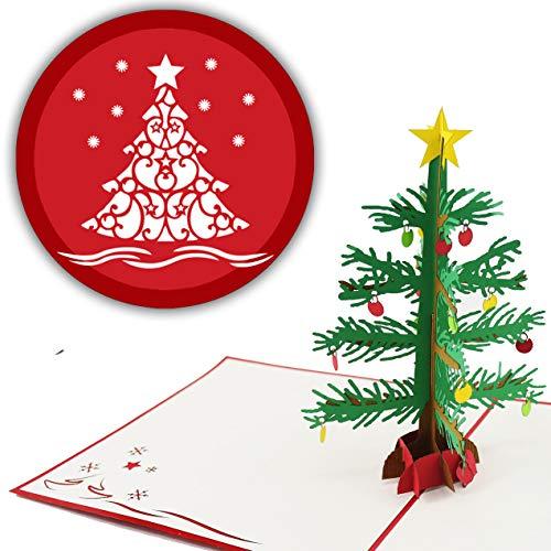 3D Weihnachtskarte Weihnachtsbaum 3D Pop up, handgefertigt, Christbaum, Weihnachtskarten, Grußkarte, Merry Christmas