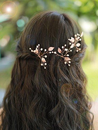 gracewedding Brautschmuck Rose Gold Kristall Haarnadeln Damen Kopfbedeckung Hochzeit Haar accessories-bridal Haar Zubehör Vintage Hochzeit Haar Schmuck für Party und abends