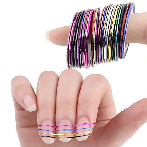 hosaire-multicolor-mixed-colors-nail-art-striping-tape-line-decoration-sticker-diy-nail-tips-pack-of