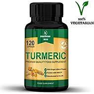 Turmeric and Black Pepper Capsules high Strength with Ginger - Turmeric Curcumin - Joint Pain Relief & Joint Care - Anti Oxidant & Anti-Inflammatory - 120 Vegetarian Turmeric Capsules - Made in UK