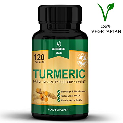 turmeric with ginger and black pepper - High Power [710mg] - Best supplement for joint pain relief, antioxidant and anti-inflammatory - 120 Vegetarian curcumin capsules