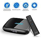 Android 7.1 Smart TV Box, GooBang Doo ABOX A4 Boîtier TV 2Go RAM 16Go ROM Quad Core Réel 4K H.265 Bluetooth V4.0 OTA avec Télécommande Vocale