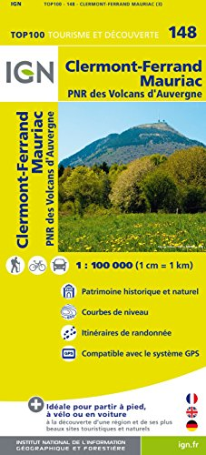 Top100148 Clermont-Ferrand/Mauriac 1/100.000