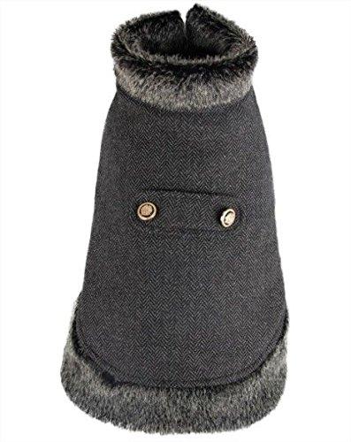 Nobleza - Cappottino per cani, colore: marrone, tipo cappa, lunghezza 30 cm -