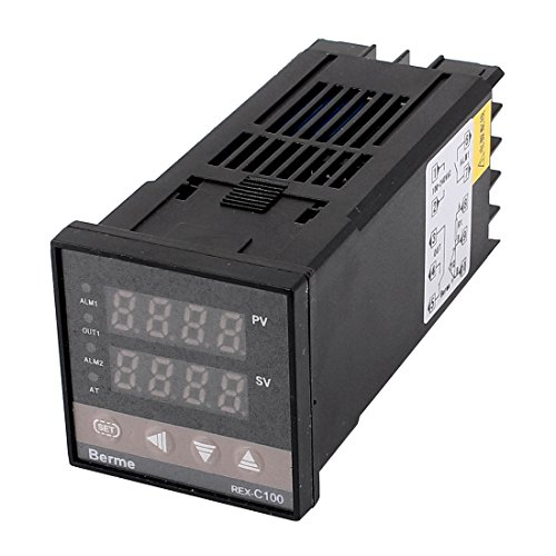 sourcing map AC 100-240V PID Digitaler SSR Kontrolle Ausgang Temperatur Kontrolle Sensor DE de -