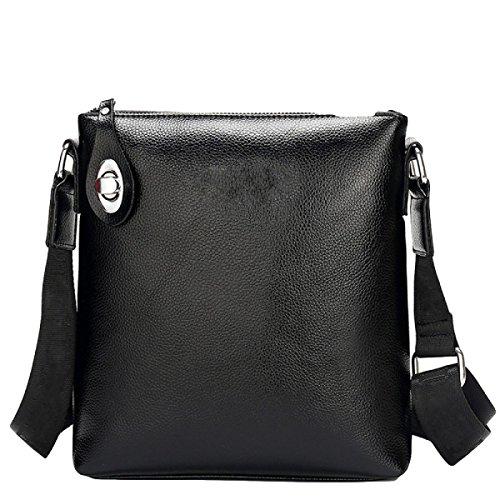 Hochwertige Einfache Schloßgroße Kapazitätsmänner Schultertasche Computertasche Handtaschen Aktenkoffer Black