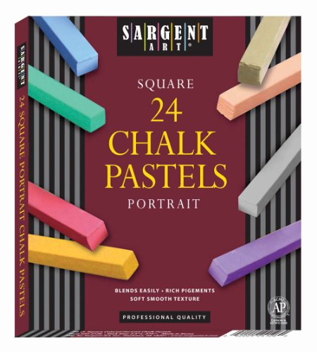Sargent Art 22-4126 24-Count Portrait Square Half Pastels by Sargent Art