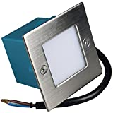 3 Stück LED Wandeinbauleuchte Luke 230Volt 1.5 Watt IP54 Treppenbeleuchtung Warmweiß