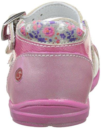 GBB Baby Mädchen Peggy Krabbelschuhe Rose (Vnv Fushia-Imprime Dpf/Festa)