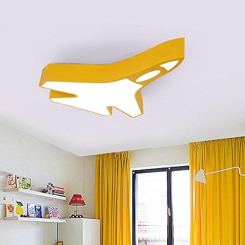on Rocket Deckenleuchten Creative Boys Mädchen Schlafzimmer Kinderzimmer Deckenleuchten (60cm, 80cm) ( Farbe : Dreifarbiges Dimmen-Gelb , größe : 80cm ) (Fashion Kids Boutique)