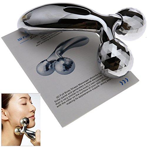 3D Gesight & Körper Massage Roller Face Lifting Körper Schlank Silber Y-Shape