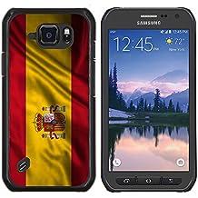 FJCases España Español Bandera Ondeante Carcasa Funda Rigida para Samsung Galaxy S6 Active