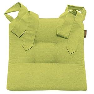 JEMIDI Stuhlkissen Sitzkissen Mit Schleifenband Stuhlkissen Für Esszimmer  Mit Schleife Stuhl Kissen Stuhlauflage Rattanstühe Extra Dick