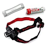 ThruNite TH10 Kaltweiß 825 Lumen Stirnlampe CREE XP-L LED Kopflampe Bundle (TH10 XP-L CW+C2+3400*1)