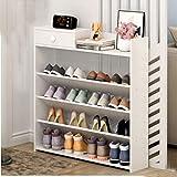 Generic Regal in verschiedenen Farben erhältlich: Zufällige Schuhregale mit S-Regalböden, schmales Design, Weiß