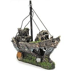 Gwant Cute Mini World Creation - Adorno para Acuario o pecera, diseño de Barco Pirata