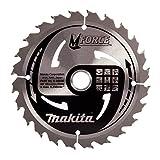 Makita B-08006 M Force Lame de scie circulaire pour couper le bois, 24dents, 165 x 20 mm–Rouge/argent