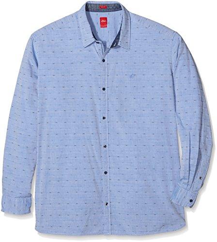 s.Oliver Big Size 15.609.21.3065, T-Shirt Uomo, Blau (Strato Blue 55A2), XXXL
