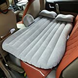 Vinteky® *Un Set Completo* Colchón Impermeable e hinchable para Coche convertible en Sofá inflable, Camping Asiento inflable en el coche para buen descanso y sueño, Cama de Aire, Colchón de Inflación para Viaje, Car Travel Inflatable Mattress, Inflatable Bed for Camping, Air Bed for Car Universal (Gris)