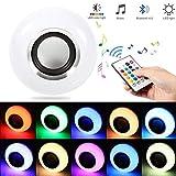 Smart Bulb LED-Glühbirne mit Integriertem Bluetooth-Lautsprecher, E27 RGBW Ändern der Farbe Lampe mit Fernbedienung Für Zuhause, Bühne, Bar, Party Dekoration LED-Scheinwerfer Gebaut